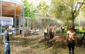 A reimagining of Convocation Plaza.