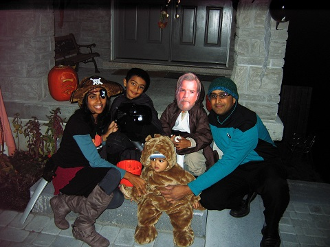 The Force is strong with the Persaud family! Photo: Philip Dehaney.