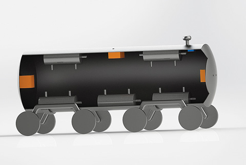 Illustration of a rail car design that could be safer.