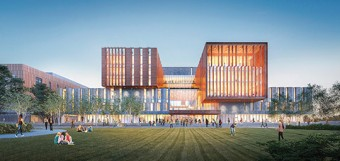 Artist rendering of newly redesigned U of T Mississauga's North Building