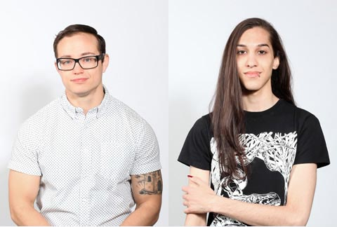 Trans students Kinnon MacKinnon (left) and Cassandra Williams. Photos by Wynne Nelly.