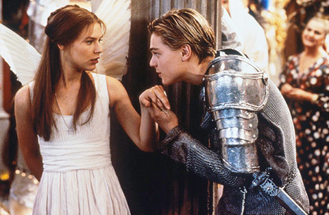 Claire Daines and Leonardo DiCaprio in Romeo+Juliet
