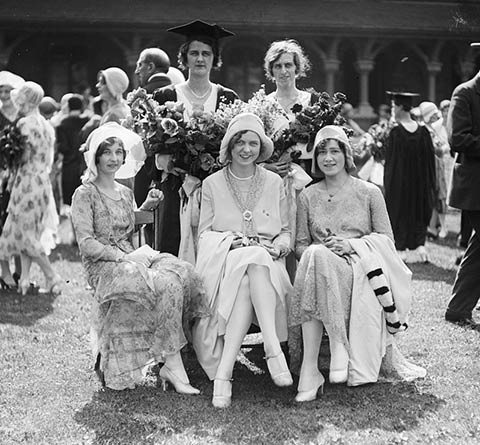 1930 photo of women at convocation.