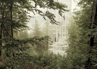 """Designed for forests, the """"Lookout"""" lets campers sleep high among the trees."""