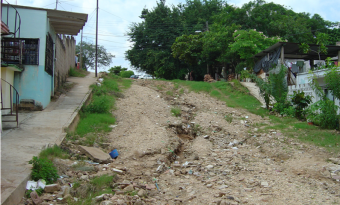 An unpaved road in Mexico