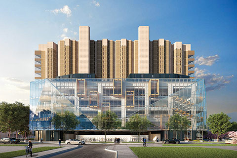 An architect's rendering of the planned Robarts Common