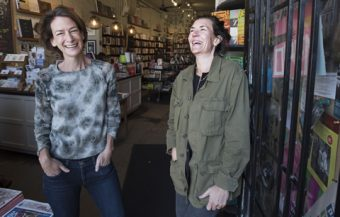 Type Books turned 10 earlier this year. Co-owners Joanne Saul (left) and Samara Walbohm in their Queen St. West store. Photo by Fred Lum/The Globe and Mail.