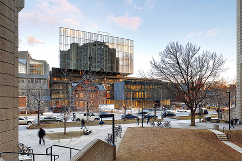 Photo of the addition to the Rotman building