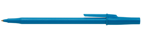 Photo of a blue ballpoint pen