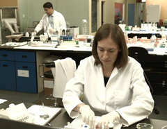 Ron Gonzalez (back) and Sara Seabrooke at their Toronto lab. Photo courtesy of Instant Chemistry.