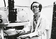 Ursula Franklin, at U of T, circa 1980. Photo: U of T Archives.