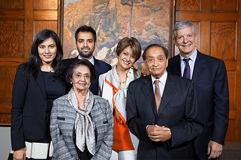 Photo of Gulshan and Pyarali Nanji (front) and family with Dr. Sherif El-Defrawy