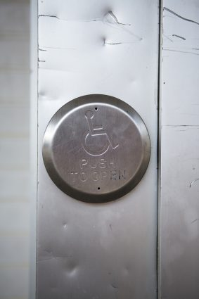 An accessibility button to open a door