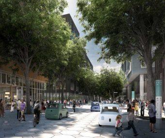 Rendering of Toronto Sidewalk Labs proposed space