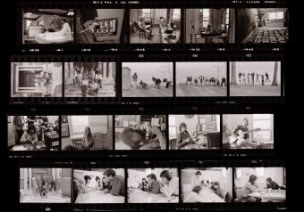 A contact sheet of images from the Cool School