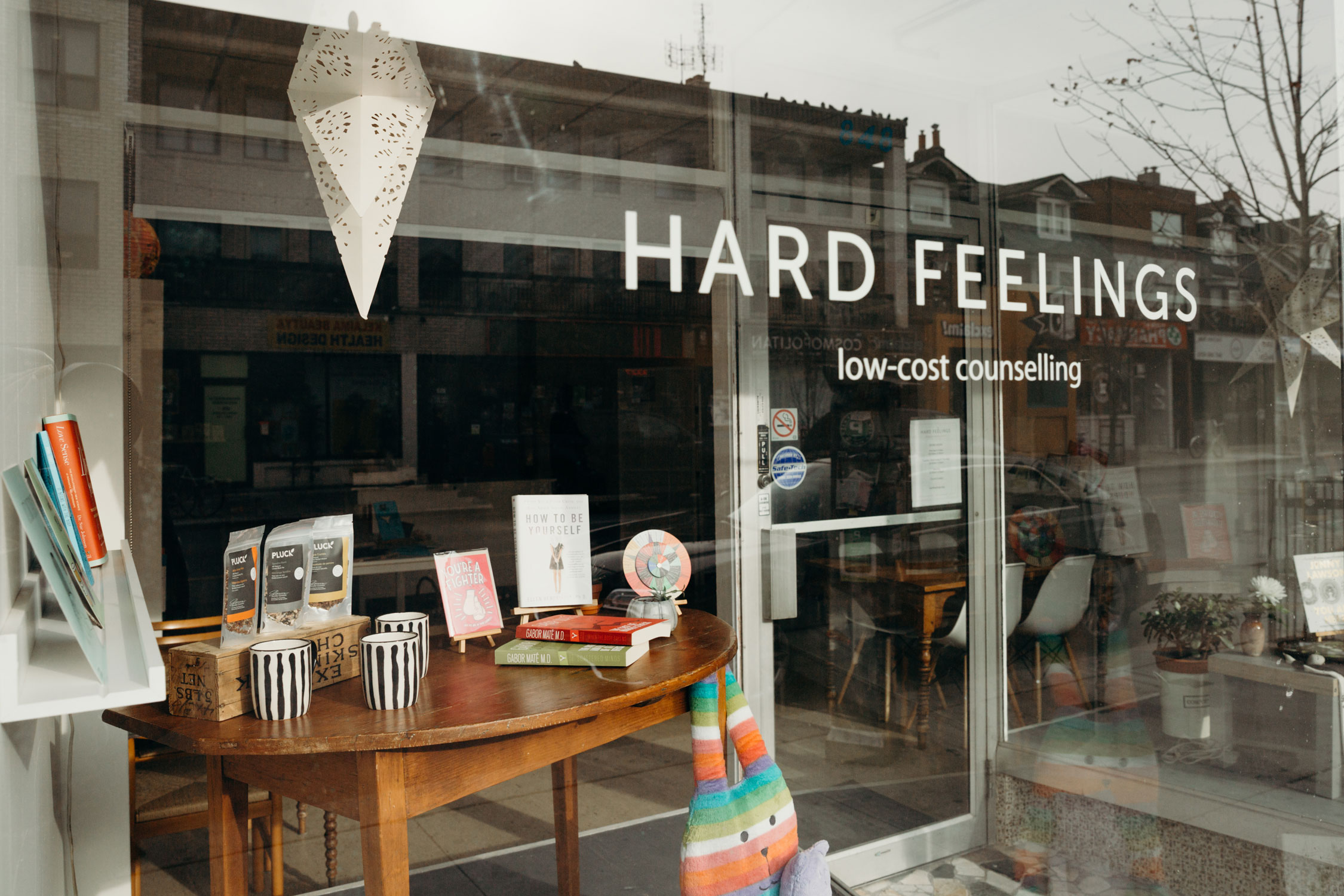The Hard Feelings storefront on Bloor Street West in Toronto