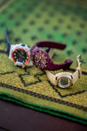 """Collection of watches belonging to University of Toronto student Farzana Azmy. """"To mark milestones in my life like these, my dad often gives me a watch,"""" January 22, 2019"""