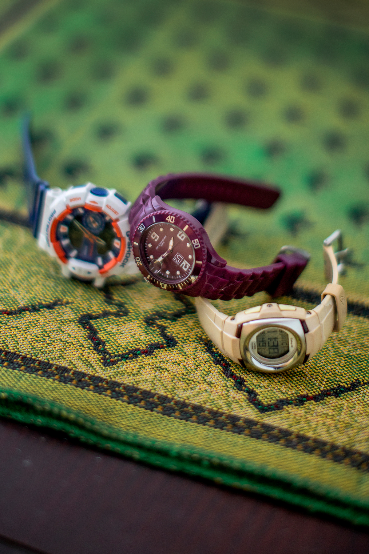 Collection of watches belonging to University of Toronto student Farzana Azmy