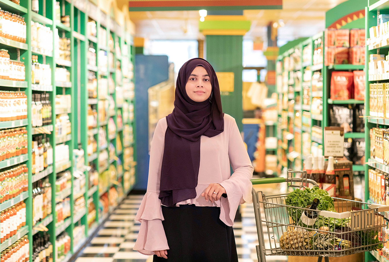 Nutritionist Nazima Qureshi shops at Planet Organic Market in Mississuaga. Photo by Alia Youssef