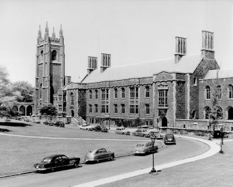 Front exterior of Hart House, 1952
