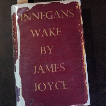 Cover of a worn copy of Finnegans Wake