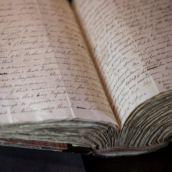 An open book of James Wolfe's letters