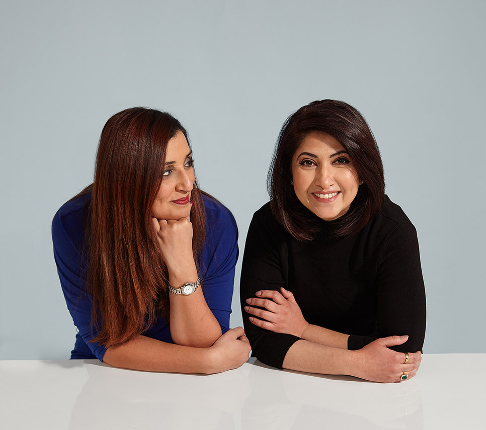 Samra Zafar and Sabeen