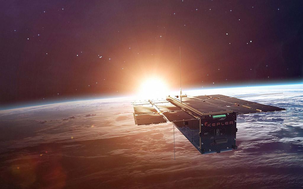 Kepler satellite in orbit around the Earth