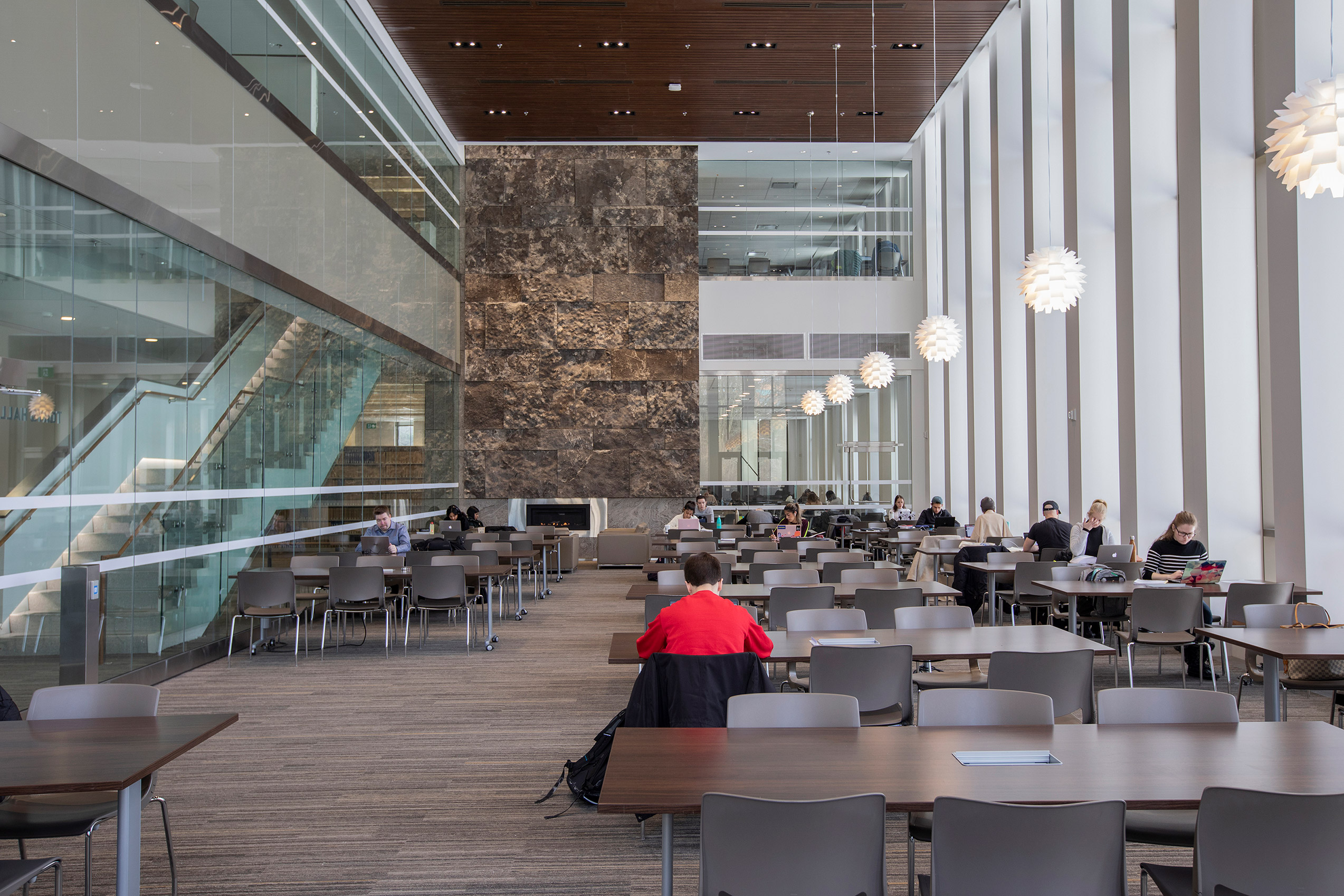 Main reading room in the Bora Laskin Law Library