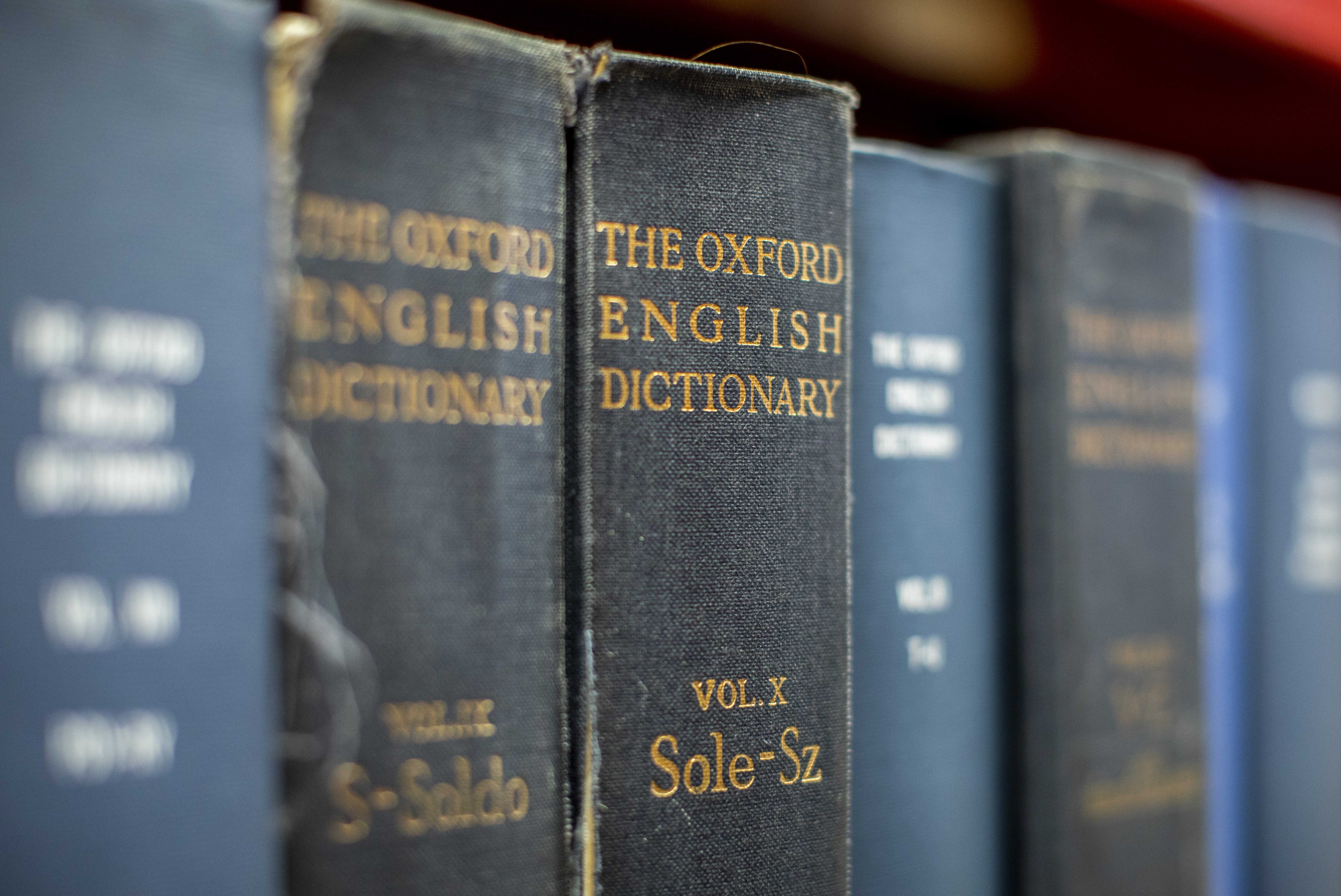 The Oxford English Dictionary in Robarts Library at the University of Toronto, June 19, 2019. Photo by Nick Iwanyshyn