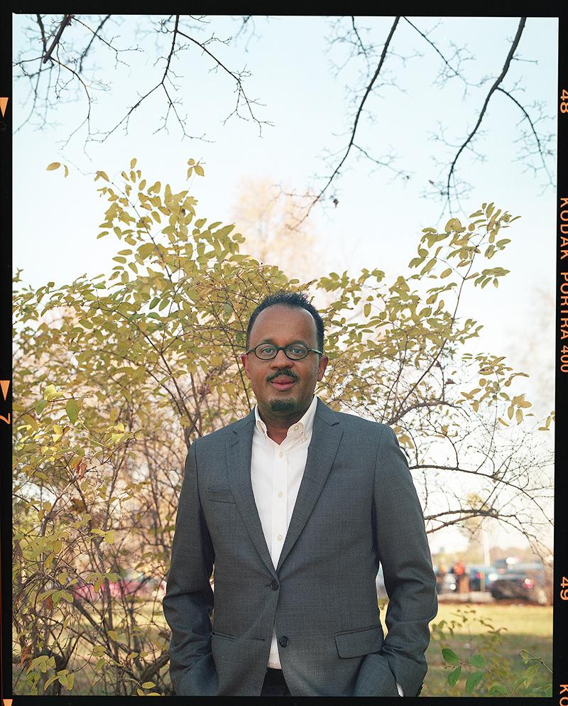 Dean Dexter Voisin standing in a field