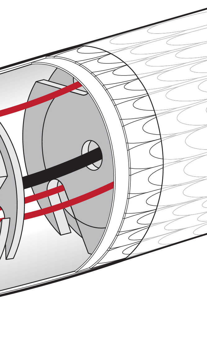 Illustration of the outer scaled sheath covering the body of a continuum robot