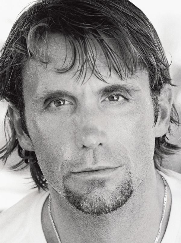 Black and white closeup head shot of Richard Phibbs