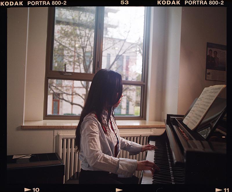 Jialiang Zhu playing the piano